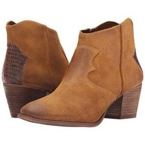 Marc Fisher Stefani Western Suede Ankle Boots: 9